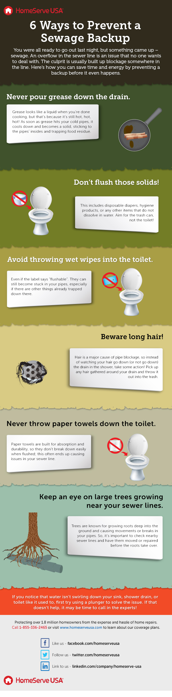 Sewage Backup Prevention Infographic